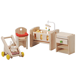Mini set muebles y accesorios cuarto del bebé