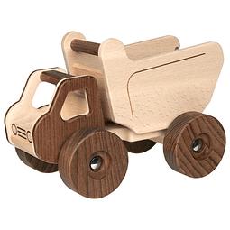 Camión volquete madera nature 28x18cm