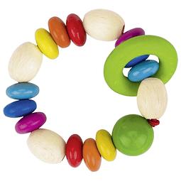 Sonajero plano circular arco iris, Heimess