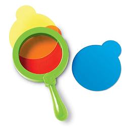 Lente para mezclar colores