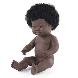 Bebé síndrome Down niña africana 38cm