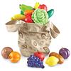 Bolso con 16 frutas y vegetales