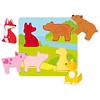 TOCA Y SIENTE - ROMPECABEZAS DE ANIMALES