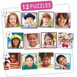 SET 12 PUZZLES NIÑOS FELICES DEL MUNDO