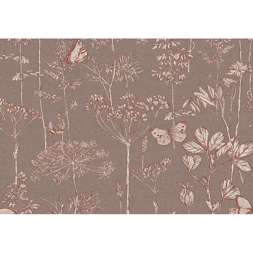 Chocolate Floral Meadow