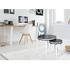 Suri Black and White Side Tables