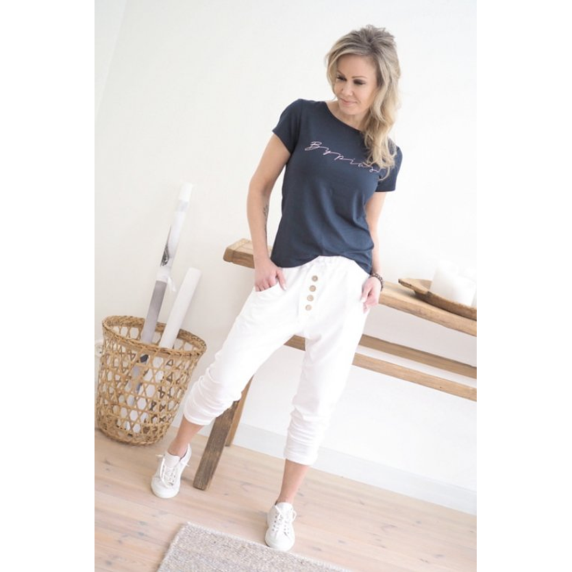 White Bamboo Pants