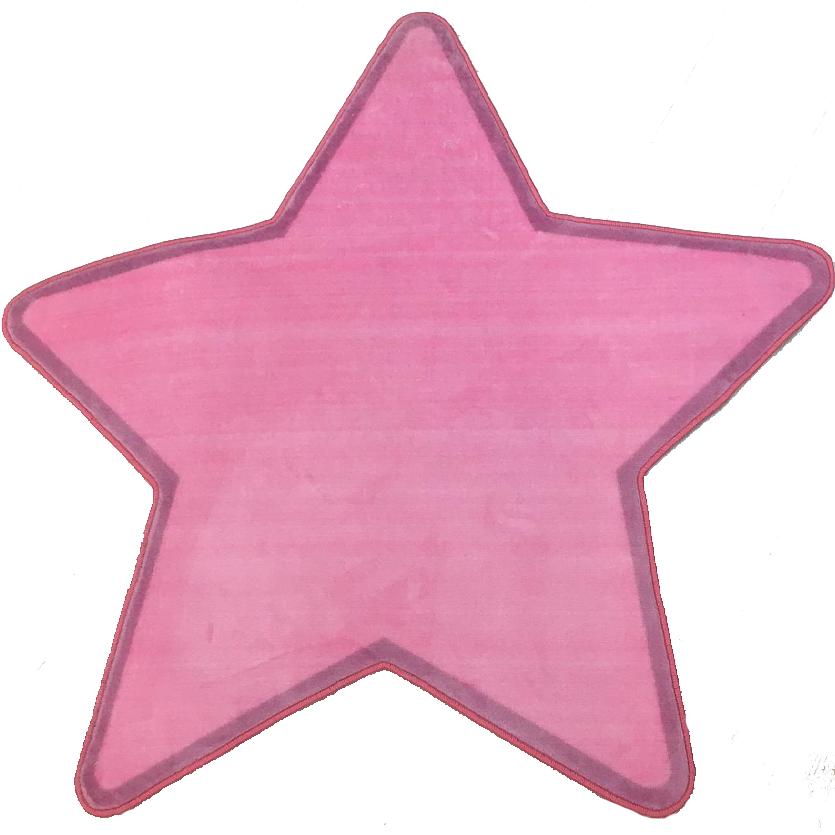 Tapete Infantil Estrela Rosa