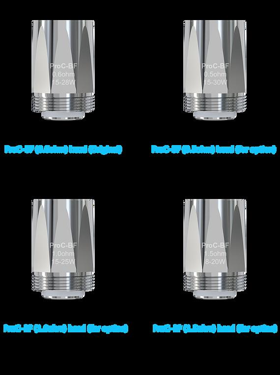 Resistências ProC-BF Series Head   Cubis 2  (0.5ohm/0.6ohm/1.0ohm/1.5ohm) /  ProC-BFL 0.5ohm/0.6ohm