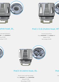 joyetech ProC Series Heads  ProC1/ProC1-S/ProC2/ProC3/ProC4 - aries atomizer pro core