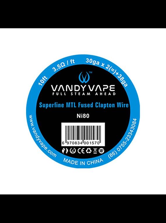 Superfine MTL Fused Clapton wire (3m) by Vandy Vape