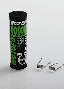 Resistencias pre feitas Wotofo tubo ( 10pcs  )