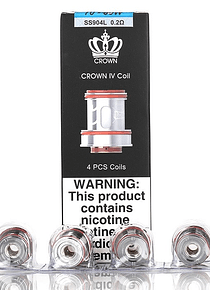 Uwell - Resistencias Crown 4 Dual SS904L X4 - oHm : 0,2 oHm