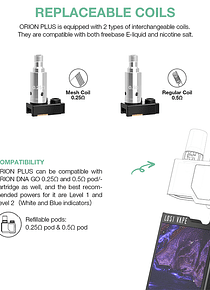 Coils Pod Orion Dna PLus - Orion Q - Orion Q--pro - Unidade