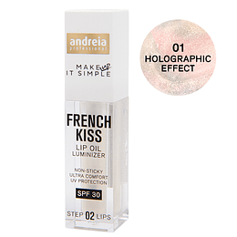 FRENCH KISS - Lip Oil Luminizer 01. Holographic Effect - Andreia