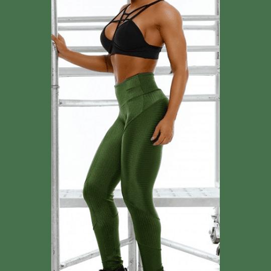 Moda Brasil Calza verde de tela texturizada - Image 2