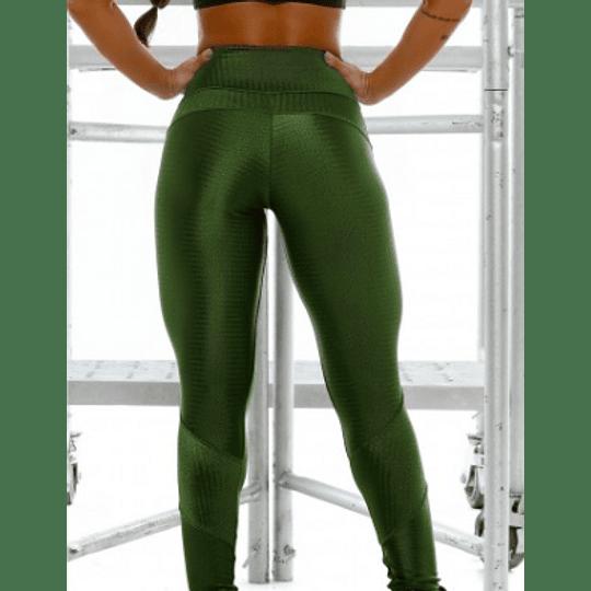 Moda Brasil Calza verde de tela texturizada - Image 3