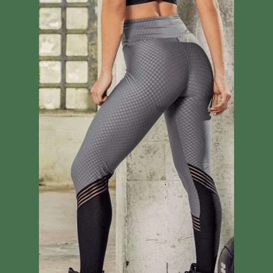 Moda Brasil Calza en tela con texturizada, gris con negro.  - Image 2