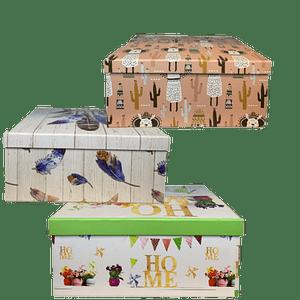 Caja Decorativa Carton Piedra