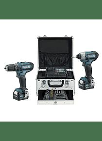 Kit Combo Berbequim HP331D + Aparafusadora de Impacto TD110D 10,8V 4,0Ah