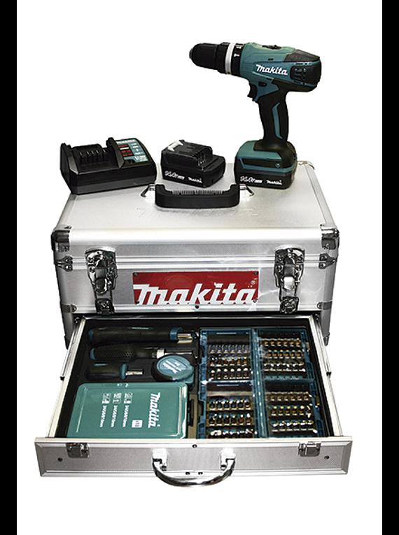 Berbequim percussão a bateria 14.4V Makita HP347DWEX1