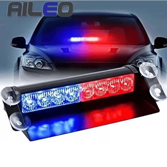 Baliza Led Parabrisa Autos Roja/azul 12 Volts6543