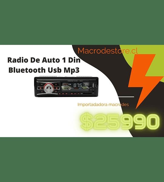 Radio De Auto 1 Din Bluetooth Usb Mp3 Microsd Aux Fm 213037