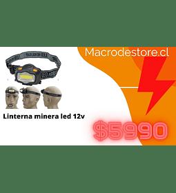 linterna minera led 12v