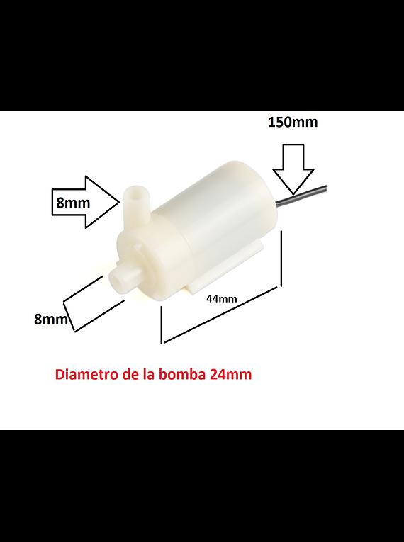 MICRO BOMBA DE AGUA 2.5V A 6V 120L/H