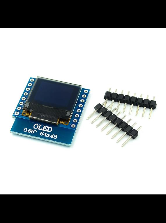 SHIELD LCD OLED 0.66 64X48 PULGADAS D1 MINI