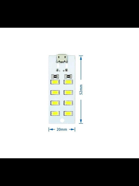 MATRIZ DE LED BLANCA 2X4 5730 5V