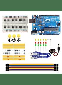 KIT ELECTRONICA PRINCIPIANTE + ARDUINO UNO R3 CON CABLE USB