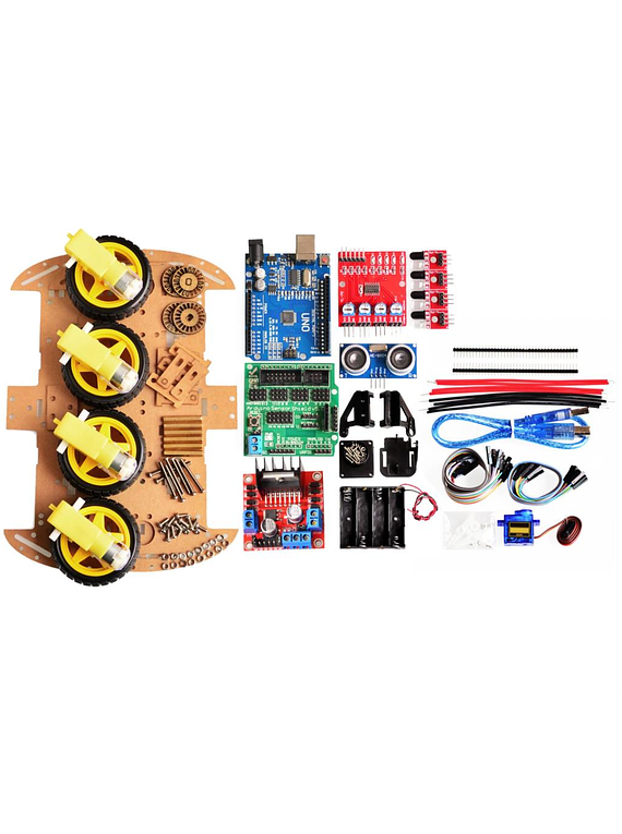 KIT  ROBOT SMART CAR CARRO ROBOTICO 4WD