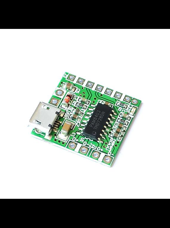 MODULO AMPLICADOR AUDIO PAM8403 2X3W MICRO USB