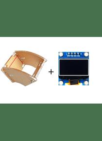 LCD OLED 128X64 0,96 PULGADAS + SOPORTE