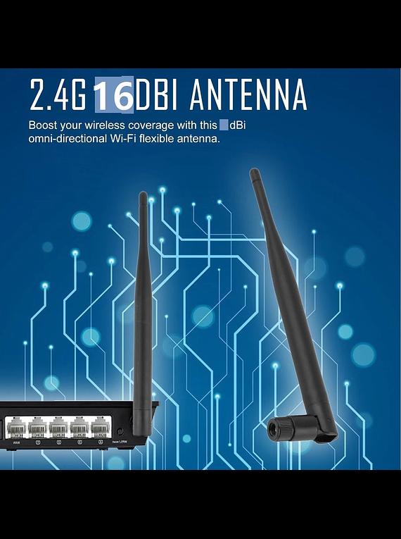 ANTENA WIFI 16dBi 2.4GHz CONECTOR RP-SMA
