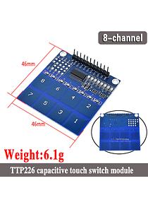 TECLADO MATRICIAL TOUCH TTP226 8 CANALES
