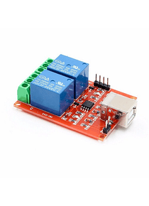 MODULO RELE 2 CANALES PROGRAMABLE USB  DOMOTICA