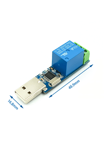 MODULO RELE 1 CANAL PROGRAMABLE USB LCUS-1