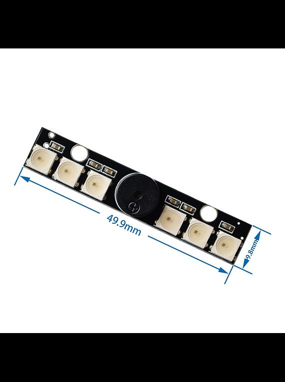 MODULO 6 LEDS RGB W2812B CON BUZZER