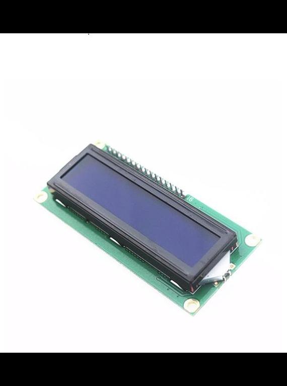 LCD 1602 16x2 BACK LIGHT AZUL CON CONVERSOR I2C