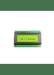 LCD 2004 20x4 BACK LIGHT VERDE CON CONVERSOR I2C