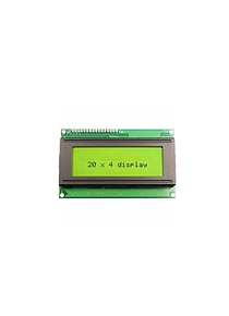 LCD 2004 20x4 BACK LIGHT VERDE CON CONVERSOR I2C