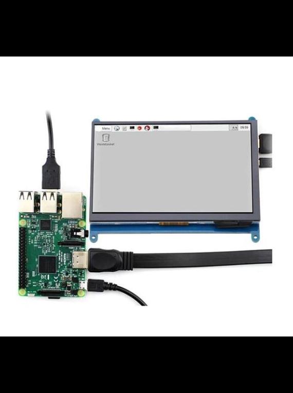 LCD MONITOR RASPBERRY PI 7 PULGADAS HDMI