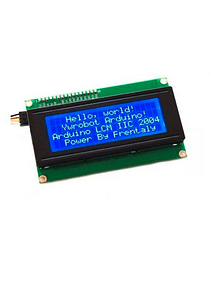 LCD 2004 20X4 BACK LIGHT AZUL CON CONVERSOR I2C