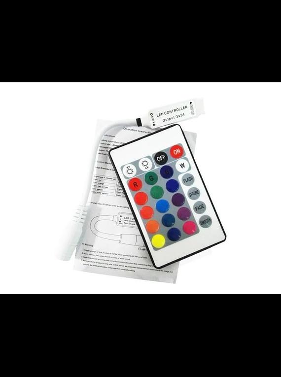 CONTROLADOR DE LUZ RGB CON CONTROL REMOTO