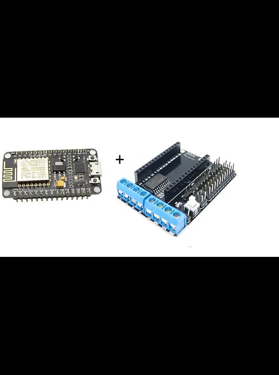 KIT NODEMCU AMICA  ESP8266 + SHIELD L293D