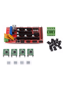 SHIELD RAMPS 1.4 + 4 DRIVERS A4988 IMPRESORA 3D CNC