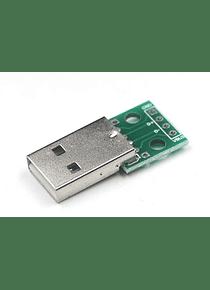 CONVERSOR USB MACHO A DIP4