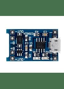 CARGADOR BATERIA LITIO  TP4056 MICRO USB
